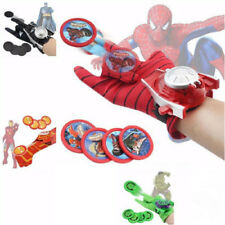 Spiderman Launchers Super Hero Gloves Iron Man Hulk Cosplay RolePlay Kids Toys