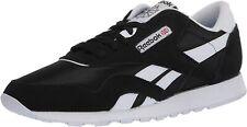 Free Shipping! Reebok Men's Classic Nylon Sneaker 6604 Black/White