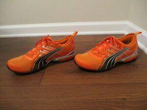Used Worn Size 10.5 Puma Voltaic 4 Shoes Orange Black Silver