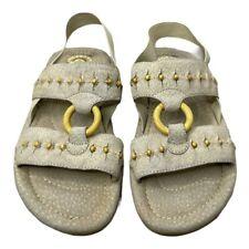 "Earth Shoe Gelron 2000 Women's ""Apache"" Suede Comfort Tan Beige Sandals Size 7.5"