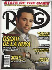 THE RING MAGAZINE OSCAR De La HOYA BOXING HOFer COVER JULY 2014