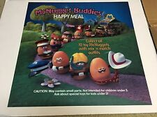 "1988 McDonalds Happy Meal Translite Sign Store Display 21""x21"" McNugget Buddies"