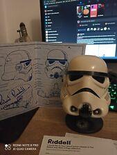 Riddell Stormtrooper  Helmet  Rare signature Richard Bonehill