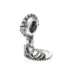 Genuine Pandora Silver Hearts Tiara Pendant Charm 791738CZ