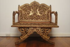 Rare Ceremonial Howdah Gilt Elephant Saddle Chair *Oriental *Asian *Thailand
