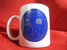 California Identification System CAL-ID Coffee Cup Mug - PHOTO AFIS DNA Sheriff