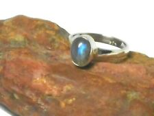 Oval Labradorite  Sterling  Silver  925  Gemstone  Ring  -  (P)