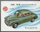 MG Magnette ZA 1955-56 UK Market Foldout Sales Brochure