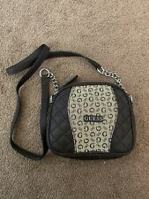 Guess Small Brown Leather Zipper Saddle Bag