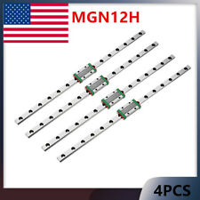 Linear Guide Mgnh Block 12mm Miniature Rail Sliding 250 500mm Cnc 3d Printer Us