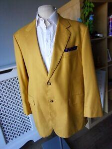 Mens STUNNING Quality Hand Bespoke Tailored Striking Gold Sport Jacket 46