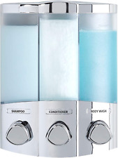 Better Living Products 76344-1 Euro Series TRIO 3-Chamber Soap and Shower Dispen