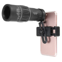 Hot Zoom Hiking Monocular Telescope Lens Cameras HD Scope Hunting +Phone Holder