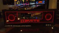 Corvette COR - Lighted Pinball LED Speaker Panel - ULTIMATE