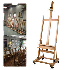 Studio Easel Painting Adjustable  sturdy Excellent Beech Wood Castors Wheels Art