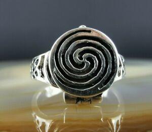 Hübscher Tribal Ring Giftring 925 Silber 19 mm