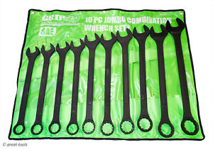 COMBINATION WRENCH SET – standard, SAE – large wrenches – hand tools – big sizes