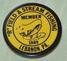 "Vintage 1989 Lebanon,Pa. ""R"" Field & Stream Fishing Badge"