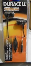 Duracell Stereo Headset with Mic Microphone DU3001 Black  NEW