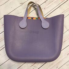 OBAG Fullspot Large CLASSIC Bag Purse Purple w/ Organizer & O bag Handles Italy