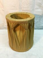 Vintage Mid Century Silk Clip on 9in Clip on Lamp Shade Yellow Table Lamp