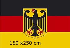 Deutschland Flagge mit Adler 150 x 250 cm XXL Fahne sehr groß   Fanartikel