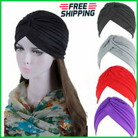 Women Muslim Hair Loss Head Scarf Turban Head Wrap Cover Cancer Hat Chemo Cap