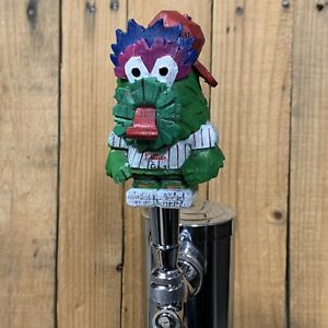 Philadelphia Phillies Beer Keg TAP HANDLE Phillie Phanatic Striped White Jersey