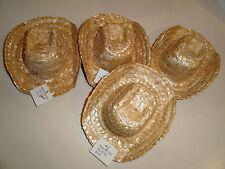 "4 straw hats 6 1/4"" x 5"""