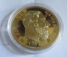 10 francs Leopold II 1867 – en Réplique de pièces célèbres – L'union fait la for