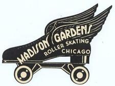 MADISON GARDENS CHICAGO ROLLER SKATING LABEL 1940s-50s