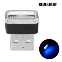 1x Blue Mini USB LED Wireless Lamp Car Atmosphere Light Neon Accessories