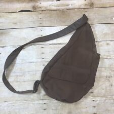 "AMERIBAG Healthy Back Sling Bag 17"" Brown Nylon  Backpack"