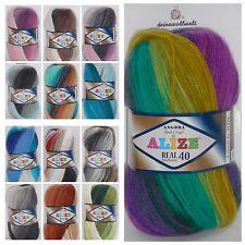 NEU türkische Alize Wolle Angora Real 40 Batik - 14 Farben - Farbverlauf