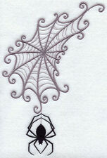 Spider Web Wedge Set Of 2 Bath Hand Towels Embroidered By Laura