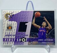 Chris Jefferies 2002-03 Topps Xpectations First Shot Relics RC Jersey ( Raptors)
