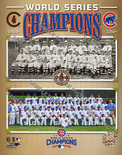 Chicago Cubs 1908 & 2016 World Series Champions Composite 8x10 Photo