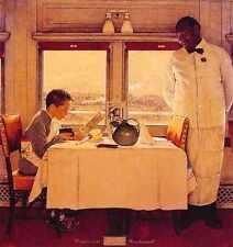 Metal Sign Boy In A Dining Car A4 12x8 Aluminium