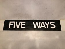 "Quinton Upper Birmingham Bus Blind 1991 34""- Five Ways"