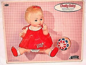 1962 MATTEL CHATTY BABY DOLL COMPLETE TRAY PUZZLE