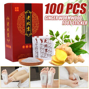 100 Stücke Fusspflaster Foot Patches Detox Pads Entgiftungs Pflaster Fußpflaster
