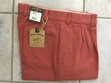 BRAND NEW - Bills Khakis Red M2-VTWR Pleated Front - Size 32- MSRP $165