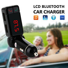 KIT BLUETOOTH AUTO TRASMETTITORE FM mp3 SD USB Charger Vivavoce Per iPhone Samsung