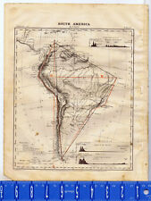 1867 Guyot Map of South America - Clearance Item