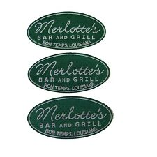 True Blood Merlotte's Bar and Grill Logo Embroidered Patch Set of 3