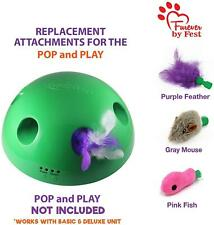 Replacement Attachments Pop N' Play One Mouse One Fish Cat Toys One Feather