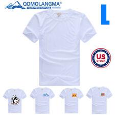 Usa 10pcs Plain L White Men Modal T Shirt Heat Transfer Press Sublimation Blank