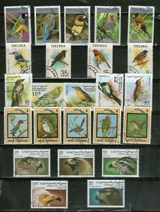5 DIFF.SETS OF BIRDS,LARGE,COMMEMO.FU,#25*