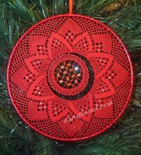 Poinsettia In A Metal Ring Torchon Bobbin Lace Pattern Lacemaking *Pattern Only*
