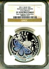 2011 S$1 Niue Maculinea Arion Colorized NGC PF70 Ultra Cameo